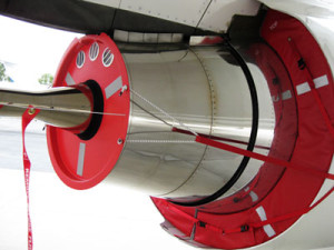 BBJ 737 exhaust covers and plugs